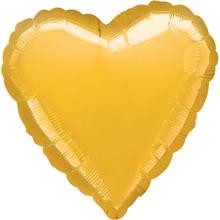 Balónek srdce zlaté metalické