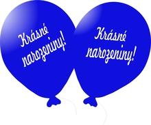 Balónek modrý Krásné narozeniny!