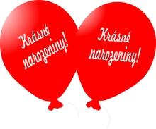 Balónek červený Krásné narozeniny!