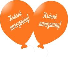 Balónek oranžový Krásné narozeniny!