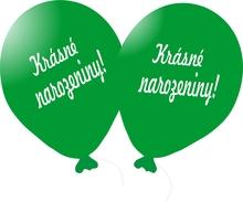 Balónek zelený Krásné narozeniny!