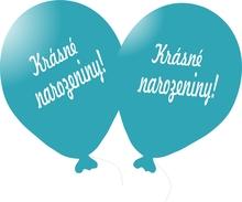 Balónek tyrkysový Krásné narozeniny!