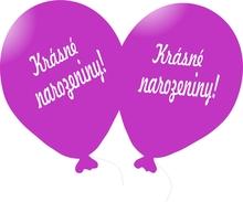 Balónek tmavá fuchsia Krásné narozeniny!