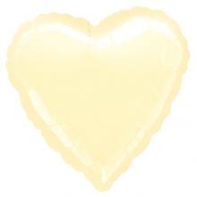 Balonek srdce foliový Ivory Metallic
