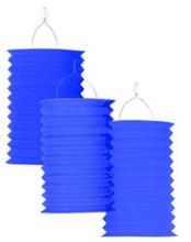Lampion modrý 28 cm ,1ks