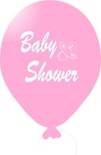 Baby Shower balónek světle růžový holka
