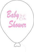 Baby Shower balónek bílý holka
