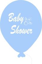 Baby Shower balónek světle modrý kluk