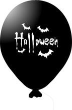 Halloween balónek černý