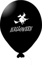 Čarodějnice na koštěti balónek černý