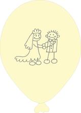 Svatební balonky panáčci 077 Ivory