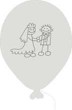 Svatební balonky - panačci 070 Pearl