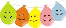 Balonky smajlík visící 5ks mix