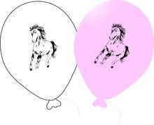 Kůň balónky 5 ks mix barev