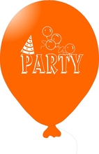 Balónky PARTY oranžové 1 ks