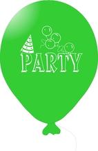 Balónky PARTY zelené 1 ks