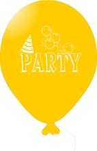 Balónky PARTY žluté 1 ks