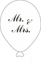 Balónek Mr. & Mrs. s černým potiskem