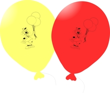 Balónky omalovánky méďa 5ks mix + fix
