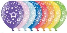 Stars balonky s plným potiskem mix barev