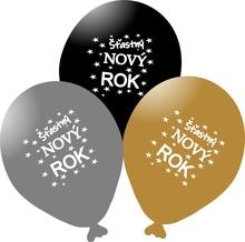 Balónky - HAPPY NEW YEAR MIX mix 5 ks