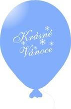 Vánoční balónky světlé modré 1 ks