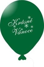 Vánoční balónky zelené 1 ks