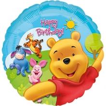 Foliový balonek Medvídek Pú šťastné narozeniny 45cm