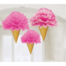 Závěsné dekorace zmrzlina 3 ks 30 cm
