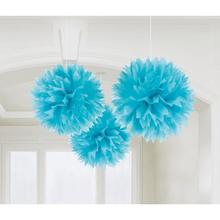 Závěsné dekorace modré 3 ks 40,6 cm