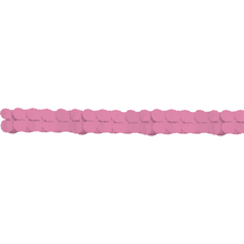Girlanda papírová růžová 365 cm