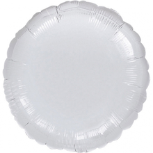 Balónek kruh Silver Metallic 42cm