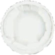 Balónek kruh White Metallic 42cm