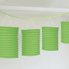 Lampionové girlandy zelené 3,65m