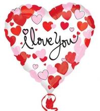 Balónek foliový srdíčko i love you 43cm