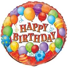 Šťastné narozeniny balónek 45 cm