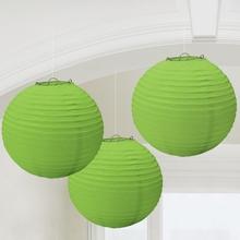 Lampiony zelené 3 ks 24 cm