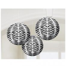 Lampiony zebra 3ks 24cm