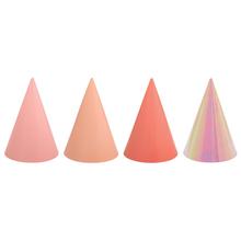 Čepičky papírové růžové mix barev 12 ks