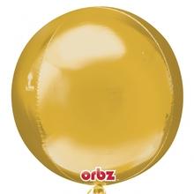 Foliový balónek zlatá koule 38 cm