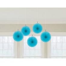 Závěsné dekorace modrá 5 ks 15,2 cm