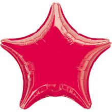Hvězda červená metalická 42cm