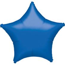 Hvězda modrá metalická 42cm
