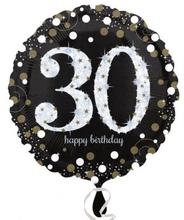 Balónek foliový 30. narozeniny 43 cm