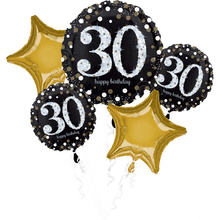 30. narozeniny balónky sada 5 ks