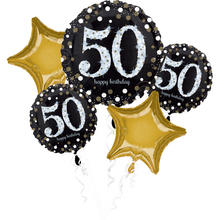 50. narozeniny balónky sada 5 ks