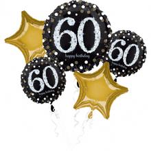 60. narozeniny balónky sada 5 ks