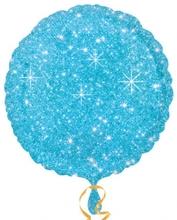 Balónek kruh modrý - hvězdy 43cm