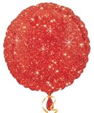 Balónek kruh červený - hvězdy 43cm