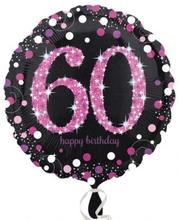 Balónek foliový 60. narozeniny Pink 43 cm